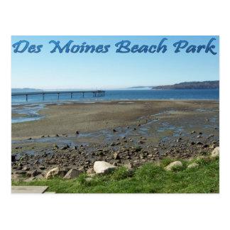 Des Moines Beach Park (tide out) Postcard