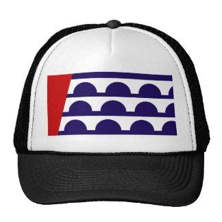 des moines city flag united state america iowa mesh hats