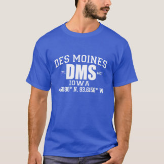 DES MOINES CITY INCORPORATED COORDINATES TEE