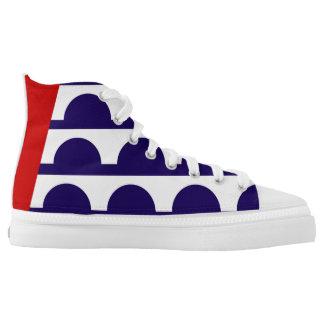 Des Moines city Iowa flag america symbol usa Printed Shoes