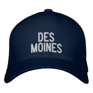 Des Moines Embroidered Baseball Cap
