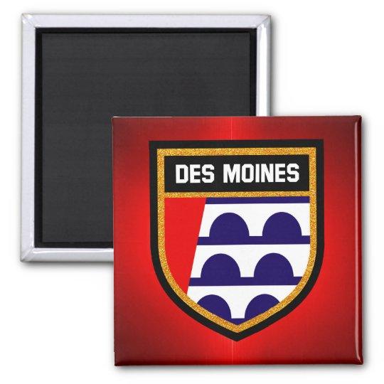 Des Moines Flag Magnet