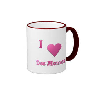 Des Moines -- Hot Pink Coffee Mugs