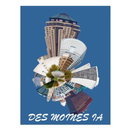 DES MOINES IA POSTCARD