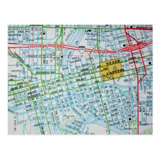 DES MOINES, IA Vintage Map Postcard