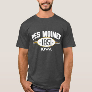 DES MOINES IOWA 1851 CITY INCORPORATED TEE