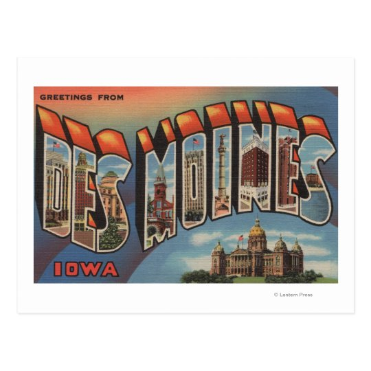 Des Moines, Iowa (Capital Building) Postcard