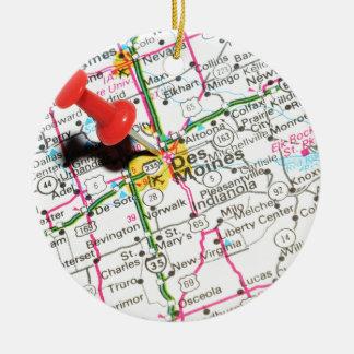 Des Moines, Iowa Christmas Ornament