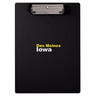 Des Moines, Iowa Clipboard
