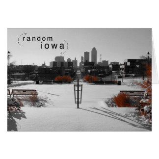 Des Moines Iowa Color Splash Note Card