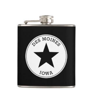 Des Moines Iowa Flask