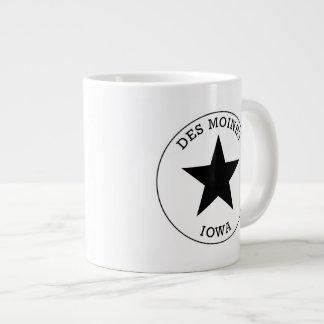 Des Moines Iowa Jumbo Mug