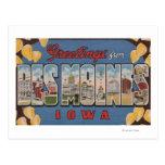 Des Moines, Iowa - Large Letter Scenes 2 Postcards