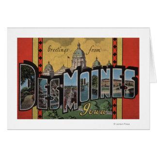 Des Moines, Iowa - Large Letter Scenes Cards