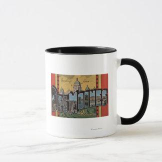 Des Moines, Iowa - Large Letter Scenes Mug
