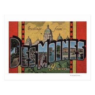 Des Moines, Iowa - Large Letter Scenes Postcard