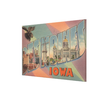 Des Moines, Iowa (Moose Head) Gallery Wrapped Canvas