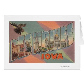 Des Moines, Iowa (Moose Head) Card