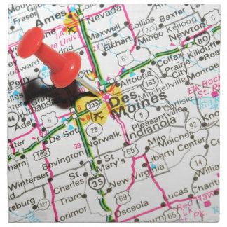 Des Moines, Iowa Napkin