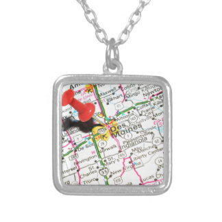 Des Moines, Iowa Silver Plated Necklace