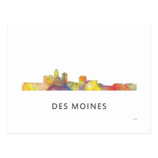 DES MOINES, IOWA SKYLINEWB1  - POSTCARD