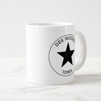 Des Moines Iowa Extra Large Mugs