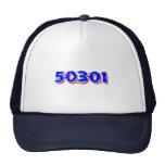Des Moines Iowa Zip Code Trucker Hat, 50301 Cap