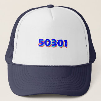 Des Moines Iowa Zip Code Trucker Hat, 50301 Trucker Hat