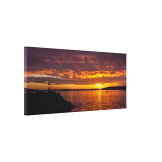 Des Moines Marina sunset Canvas Prints
