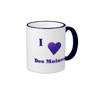 Des Moines -- Midnight Blue Mugs