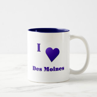 Des Moines -- Midnight Blue Coffee Mugs