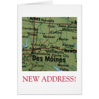 Des Moines New Address announcement Note Card