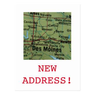 Des Moines New Address announcement Postcard