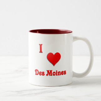 Des Moines -- Red Coffee Mug