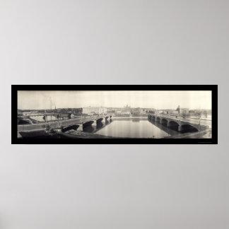 Des Moines River Photo 1914 Poster