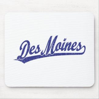 Des Moines script logo in blue Mouse Pad