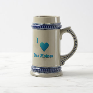 Des Moines -- Sky Blue Coffee Mugs