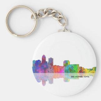 DES MOINES SKYLINE - Button keychain