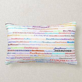 Des Moines Text Design II Lumbar Pillow Throw Cushion