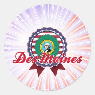 Des Moines, WA Round Sticker