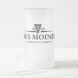 Des Moines Working Class Frosted Glass Mug