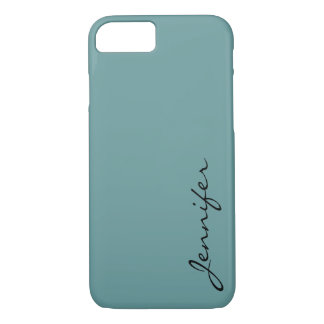 Desaturated cyan color background iPhone 7 case