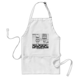 Descartes' Bathroom Funny Tees Mugs Cards & Gifts Standard Apron
