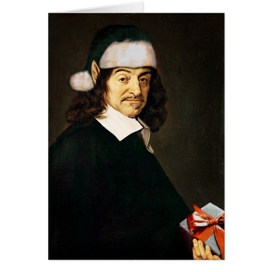 Descartes Christmas Card Blank