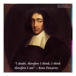 "Descartes ""I think therefore I am"" Quote Poster"