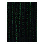 Descending Binary Code Poster