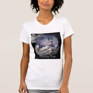Descending Night-Women's Tee-in White Shirt