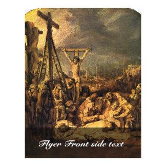 Descent From The Cross By Rembrandt Harmensz. Van 21.5 Cm X 28 Cm Flyer
