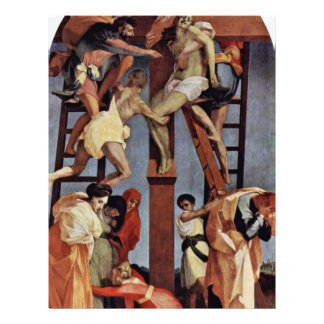 Descent From The Cross By Rosso Fiorentino 21.5 Cm X 28 Cm Flyer