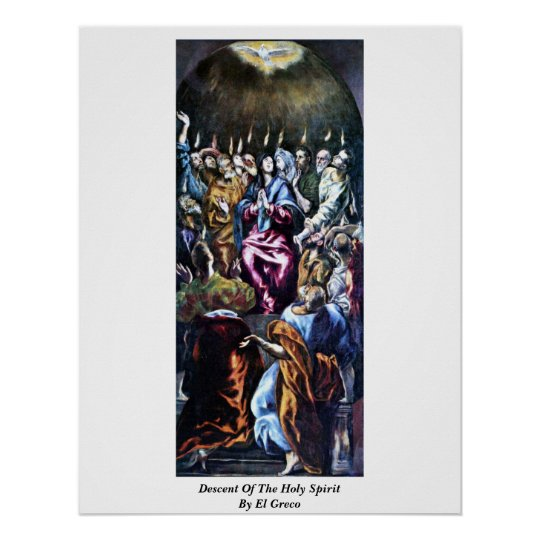 Descent Of The Holy Spirit By El Greco Poster